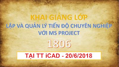 Khai giảng thành công lớp MS Project 1806