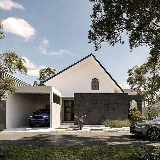 desain rumah eropa minimalis 1 lantai