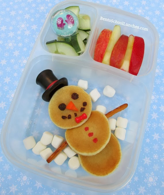 Snowman Pancakes Breakfast For Lunch