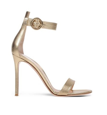 Gianvito Rossi Barely there gold stiletto sandals
