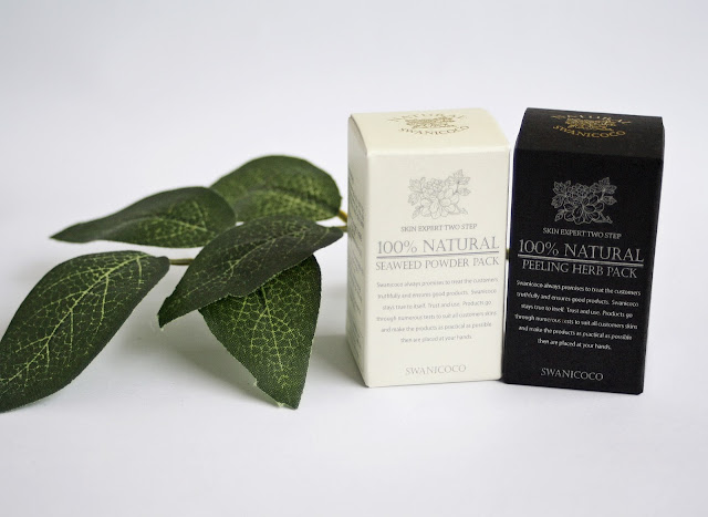 Swanicoco, 100% Natural Seaweed Powder Pack and 100% Natural Peeling Herb Pack