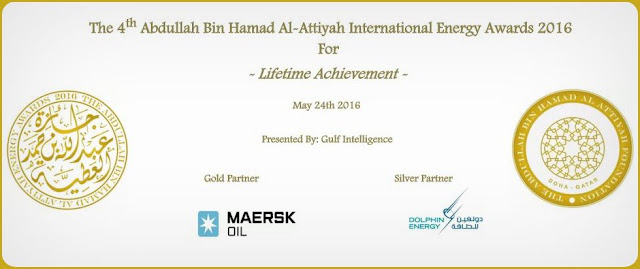 THE ABDULLAH BIN HAMAD AL-ATTIYAH INTERNATIONAL ENERGY AWARDS 2016