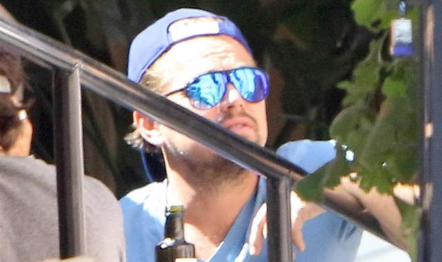 Leonardo DiCaprio Enjoys Lunch With Friends In Beverly Hills