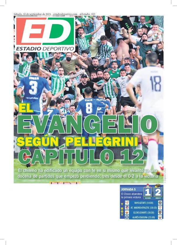 """Betis, Estadio Deportivo: """"El evangelio según Pellegrini. Capítulo 12"""""""
