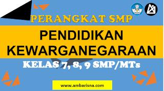 Download RPP 1 Lembar PKn SMP Kelas 7, 8, 9 Terbaru