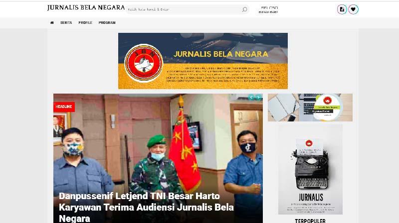 Jurnalis Bela Negara Luncurkan Website JBN