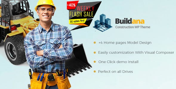 Buildana v1.4 - Construction & Building WordPress Theme