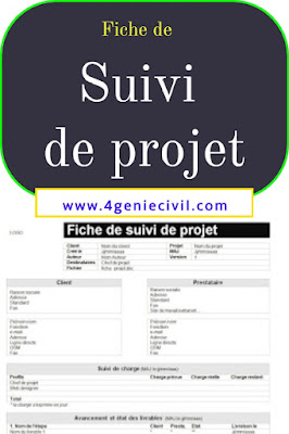 Fiche de suivi de projet en excel et word