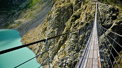 3. Trift Bridge, Switzerland