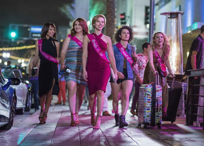 Scarlett Johansson, Kate McKinnon, Zoë Kravitz, Jillian Bell, and Ilana Glazer in Rough Night