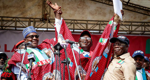Heavy Security As Buhari, Tinubu Campaign For Fayemi In Ekiti
