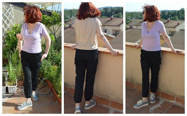 Femmeluxe Black Cargo Slim Fit Trouser