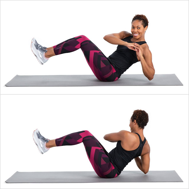 Exercises to get rid of love handles and stomach fat