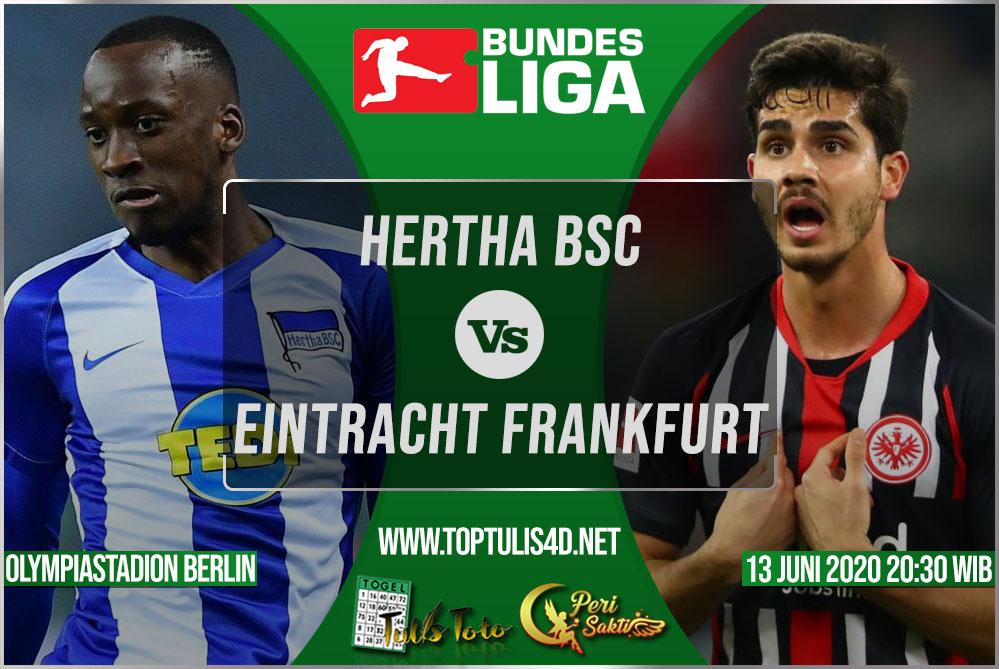 Prediksi Hertha BSC vs Eintracht Frankfurt 13 Juni 2020