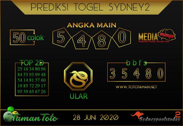 Prediksi Togel SYDNEY 2 TAMAN TOTO 28 JUNI 2020