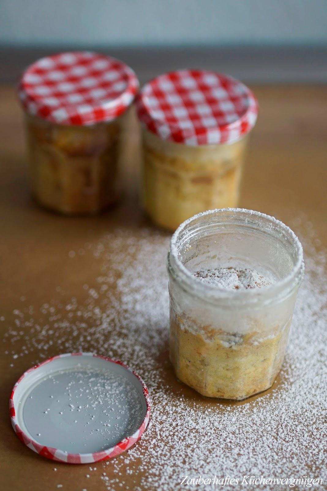 Zitronen joghurt kuchen im glas