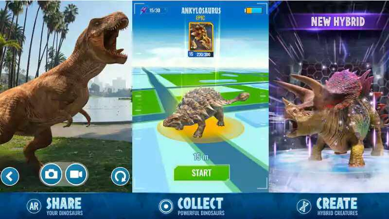 Jurassic World Alive, Pokemon Go-Like Game With AR Dinosaurs, Now Available on Android