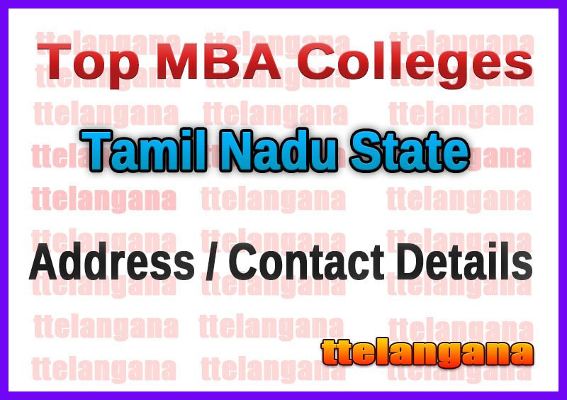 Top MBA Colleges in Tamil Nadu