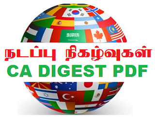 Current Affairs Monthly Digest 2019 (Upto September 2019)