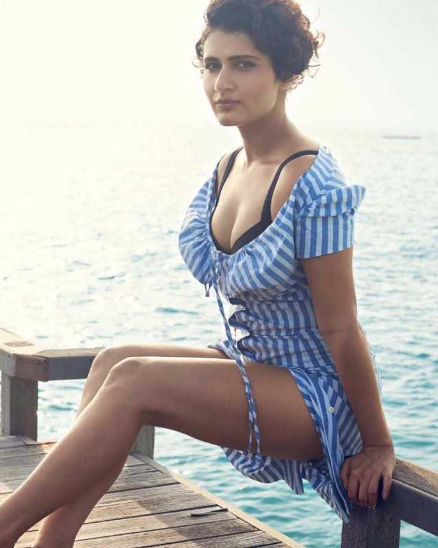 Dangal Beauty Fatima Sana Shaikh Beach Side Bikini Stills
