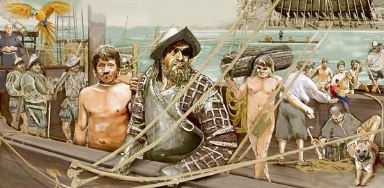 Descubrimiento del Amazonas por Francisco de Orellana Francisco-Orellana-expedici%25C3%25B3n-bergant%25C3%25ADn-Amazonas