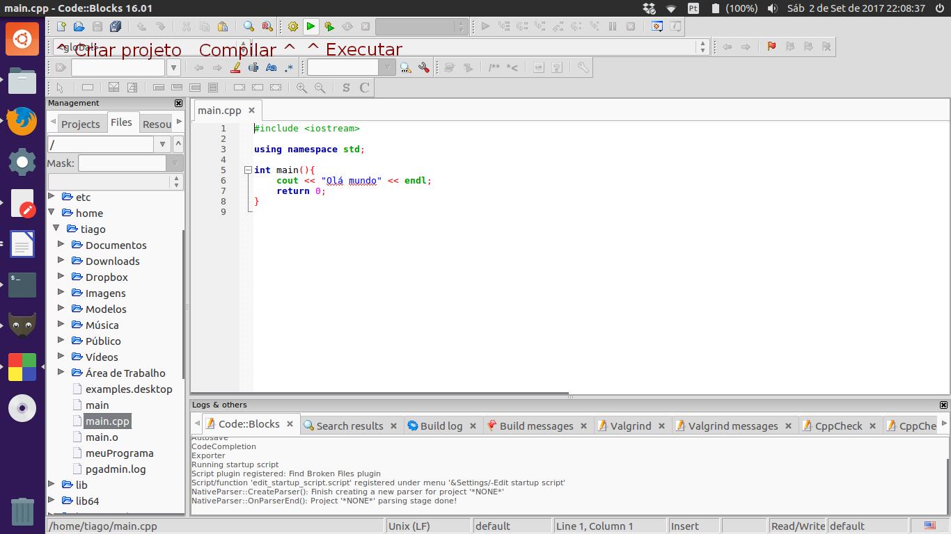 Como programar em C/C++ no Ubuntu - Diolinux - O modo Linux