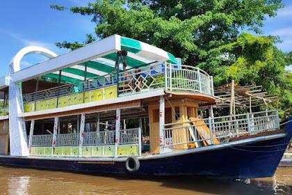 Ada Restoran Terapung di Sungai Siak Kota Pekanbaru, Begini Penampakannya
