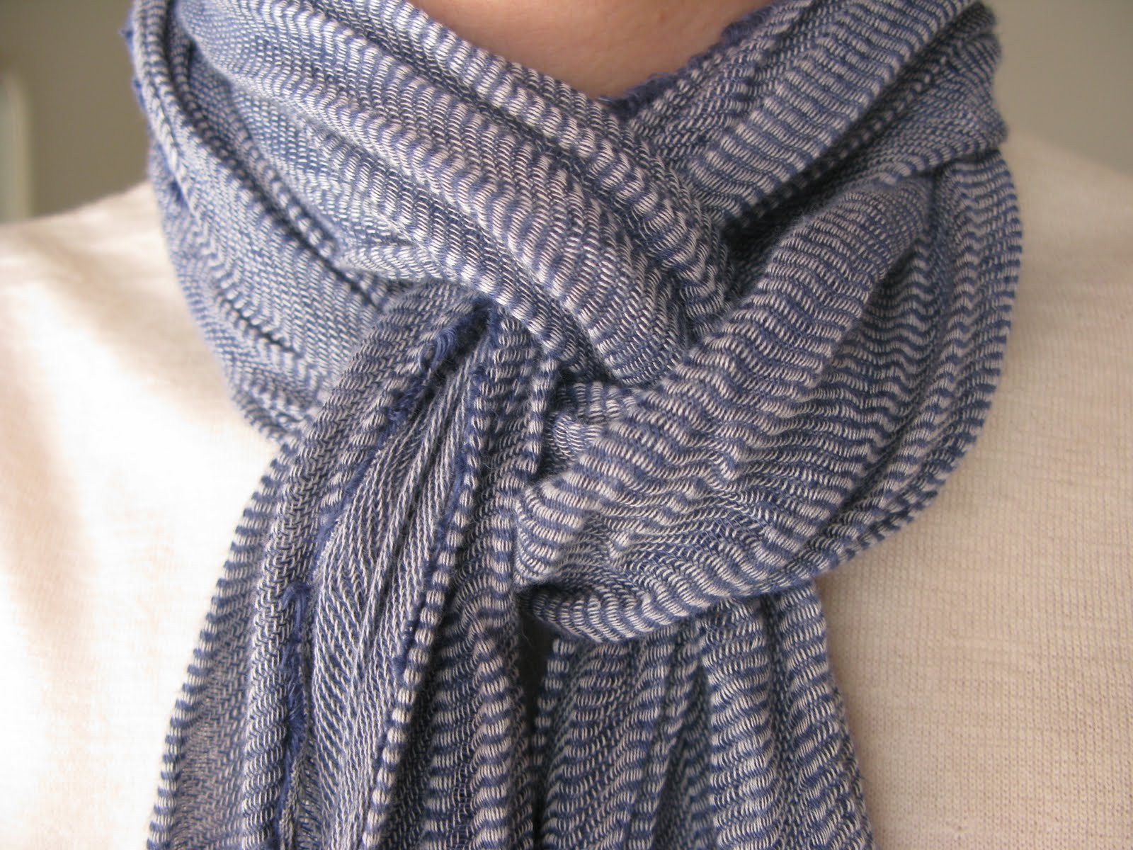 Simple Knitted Infinity Scarf