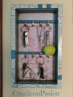 Cuelga-llaves-reciclando-una-caja-de-madera-Crea2-con-Pasión