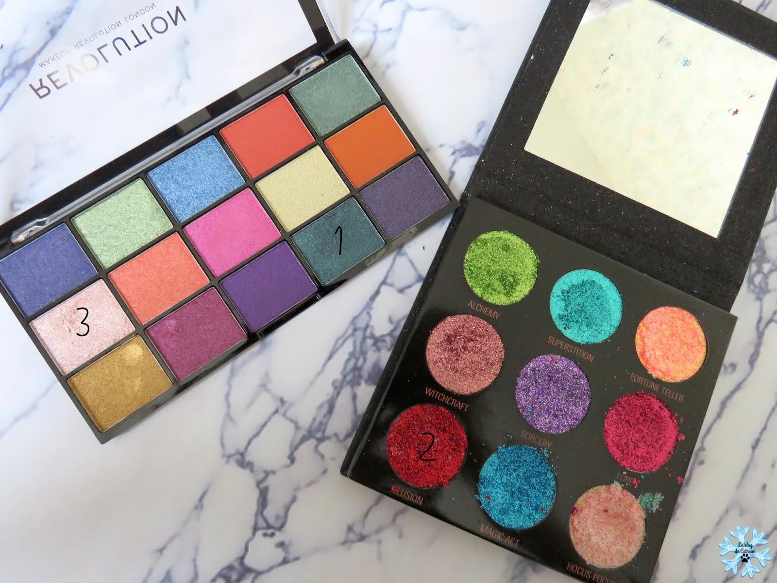 maquillage avec palette make up revolution