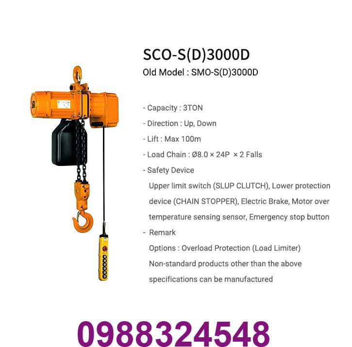 palang điện xích Samsung SCO-S3000 3 tấn