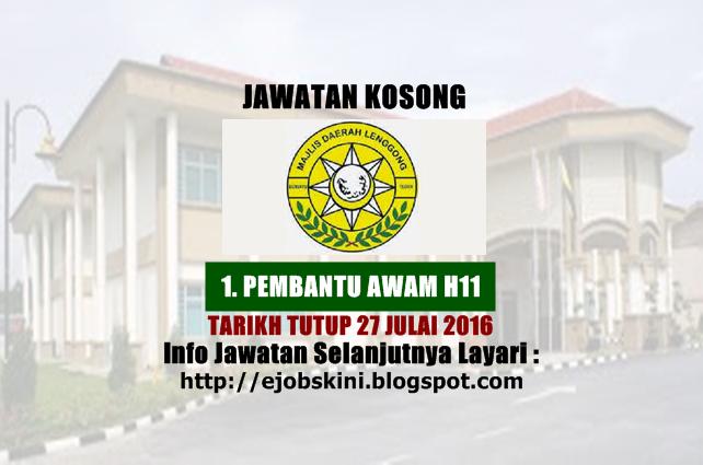 Jawatan Kosong Majlis Daerah Lenggong (MDLG)