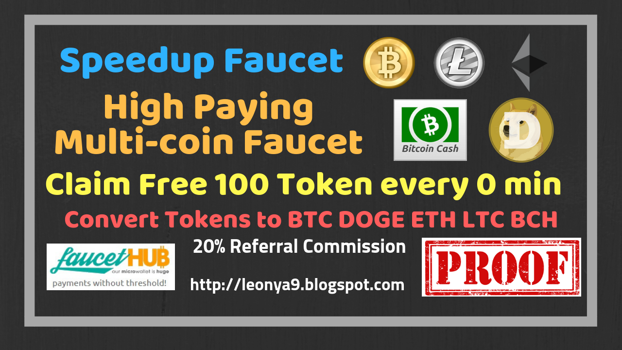 Speedup Faucet,The Best High Paying Multicoin Faucet | Claim
