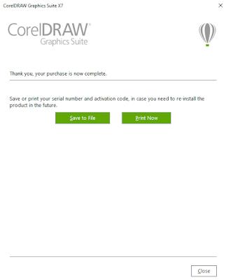 aktivasi corel draw x7 dengan serial number selesai