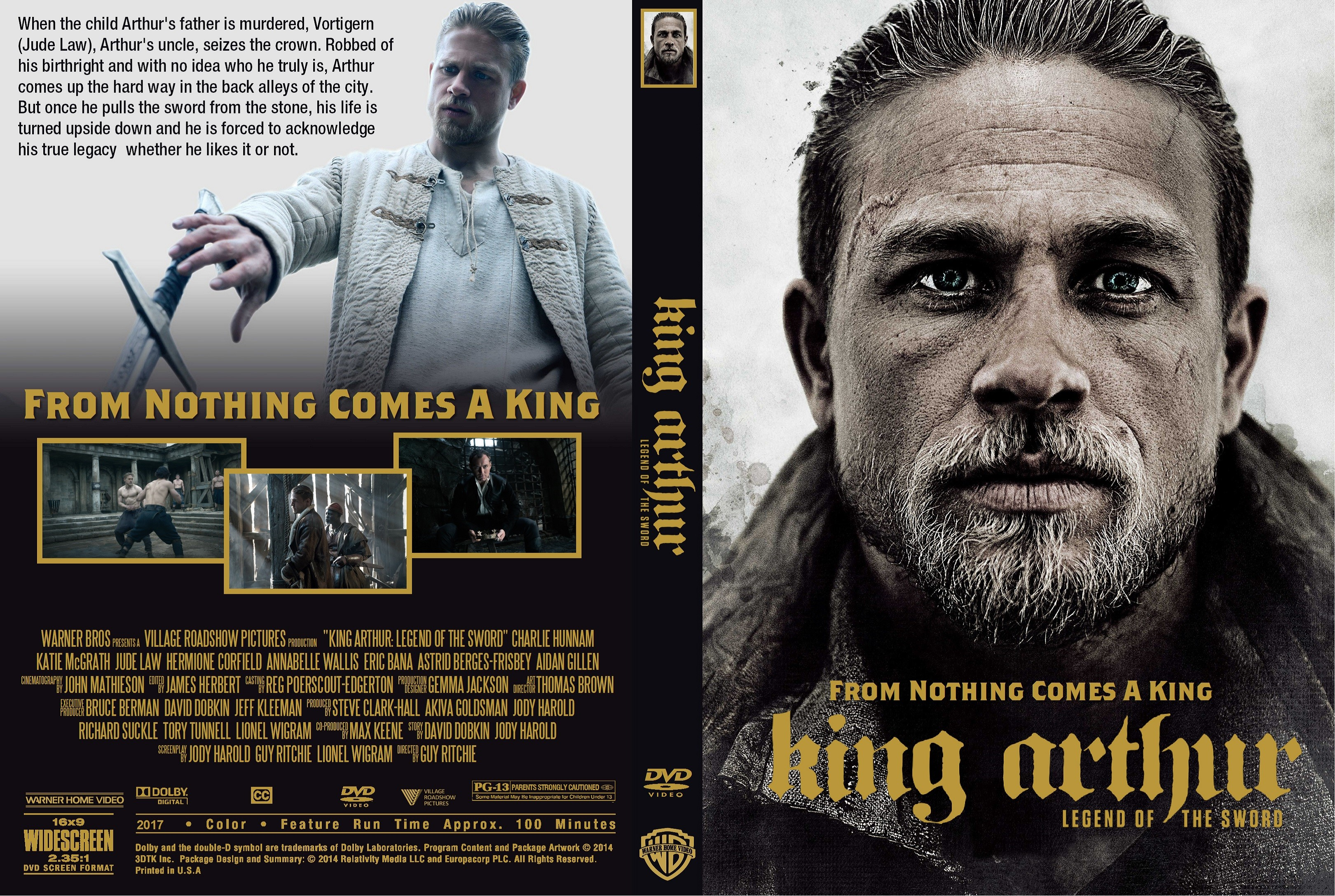 King Arthur Legend Of The Sword DVD Cover | Cover Addict ...