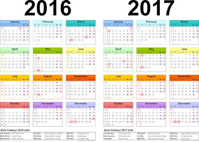 Free Printable Year Calendar 2016 Landscape | Calendar Template 2016
