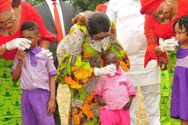 BACK TO SCHOOL: Mrs Ugwuanyi Deworm  children under five  in Enugu State