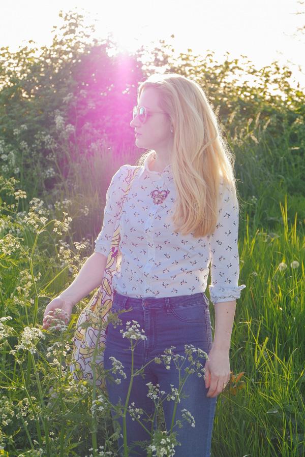 flower field photo shoot