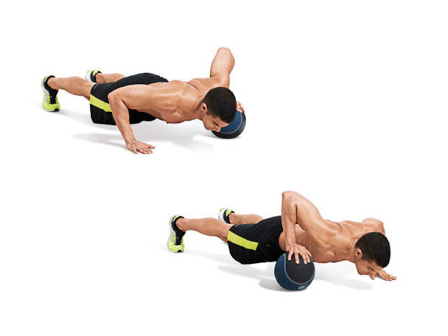 Best Chest Exercises of All Time - 30 Exercise - Medicine Ball Crossover Push Up