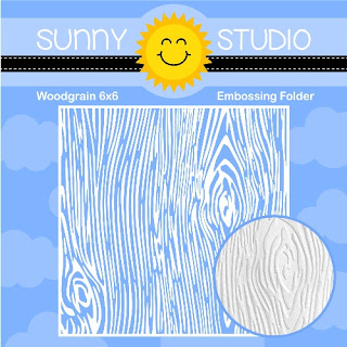 Sunny Studio Stamps: Woodgrain 6x6 Embossing Folder with Wood Embossed Texture
