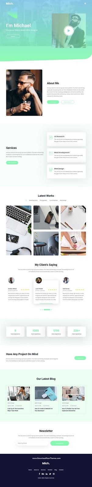 Personal Portfolio / Resume HTML Template