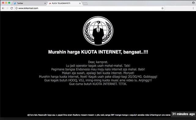 Situs Telkomsel Di Deface oleh Hacker