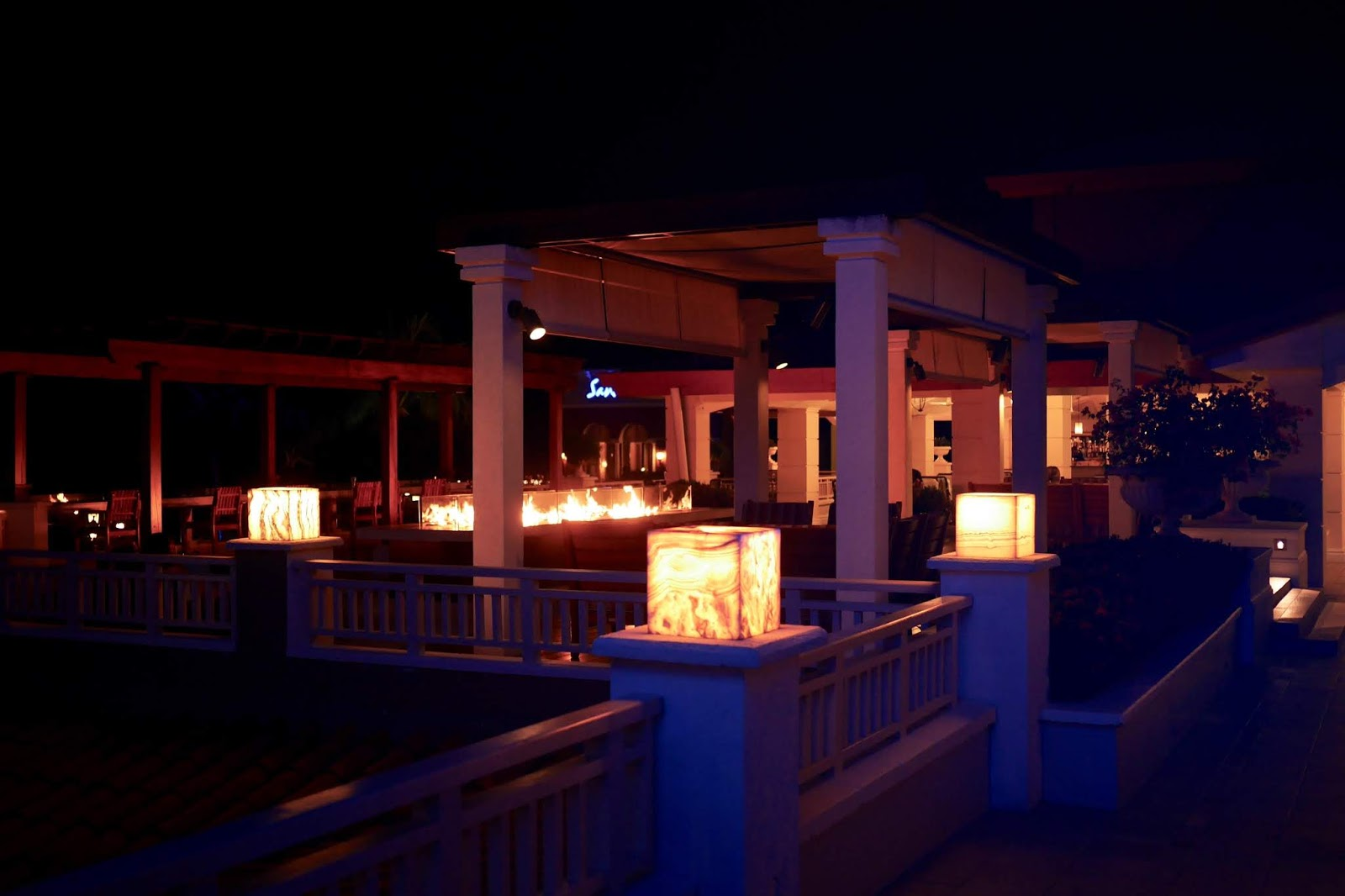 Hotel fire pits at Sandals Grande St Lucia, , Sandals Grande St Lucia Review