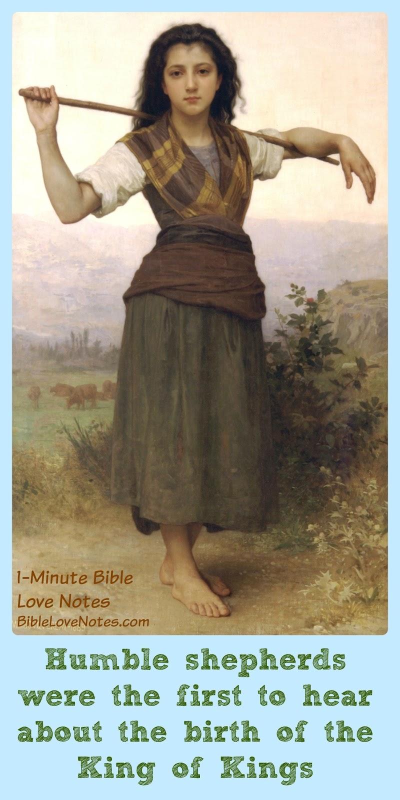 Shepherds first to hear of Jesus, Shepherds in the field