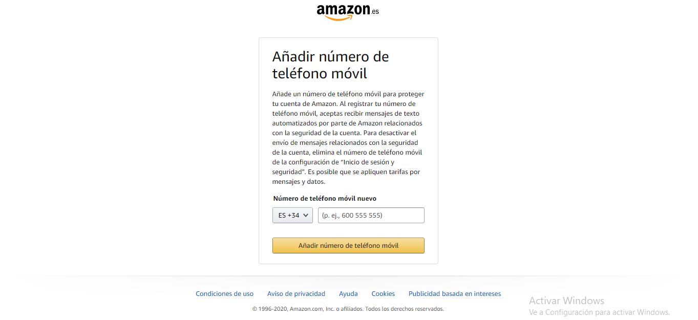 COMO VERIFICAR EL NUMERO DE TELEOFONO EN AMAZON PRIME VIDEO