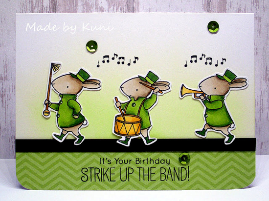 Birdie Brown Strike up the Band stamp set and DIe-namics - Annett Näther #mftstamps