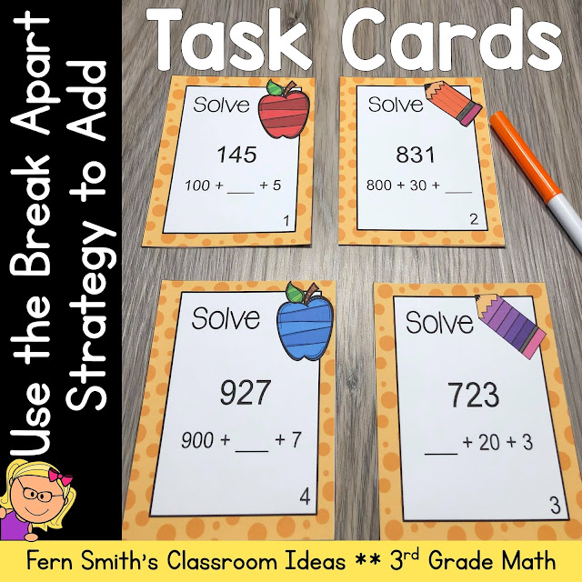 Click Here to Download This 3rd Grade Go Math 1.6 Use the Break Apart Strategy to Add Task Cards Resource For Your Classroom Today!
