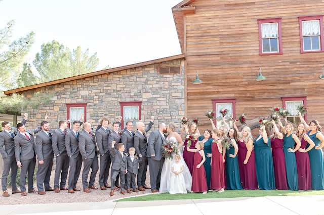 Bridal Party at Shenandoah Mill