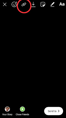 Icon link di Insta Story tanpa 10k followers