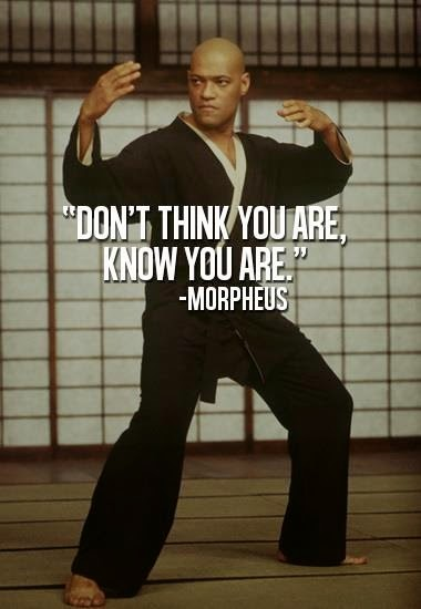 Morpheus Quote from The Matrix Motivational Poster